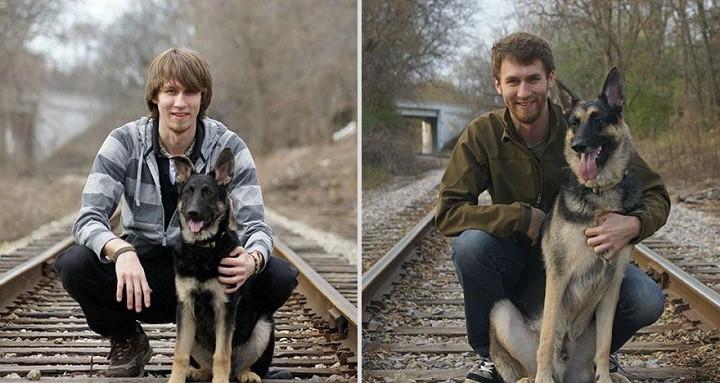 Antes y despues mascotas y duenos