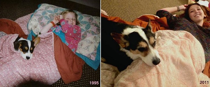 Antes y despues mascotas y duenos1