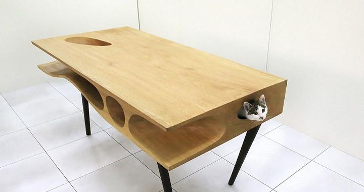 mesa para gatos