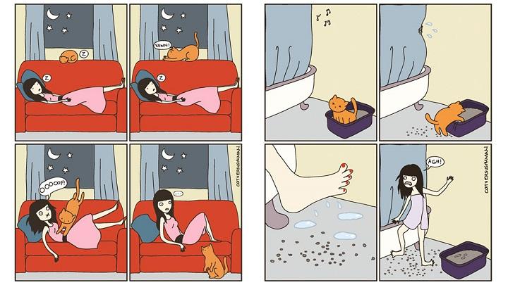 Comic realidad gato1